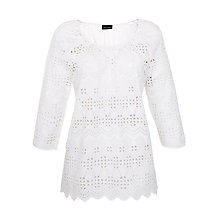 Buy Gerry Weber Cut Out Long Sleeve Top, White Online at johnlewis.com