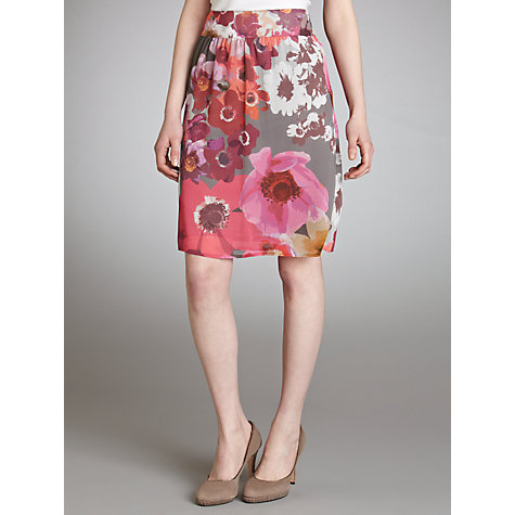 Buy Gerry Weber Chiffon Print Skirt, Grey Online at johnlewis.com