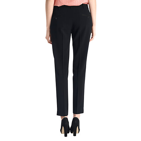Buy Jigsaw Fine Wool Pleat Trousers, Black Online at johnlewis.com