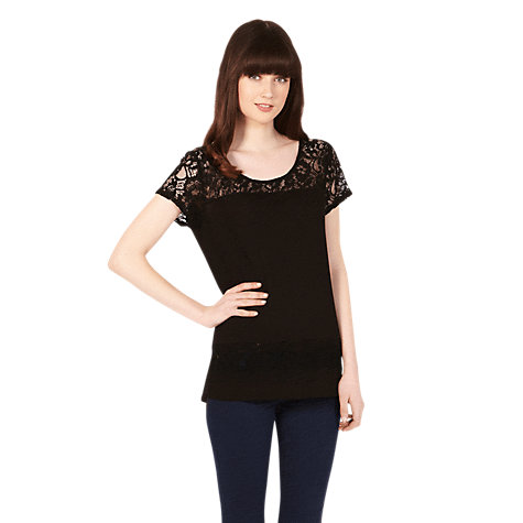 Buy Oasis Lace Mix Formal T-Shirt Online at johnlewis.com