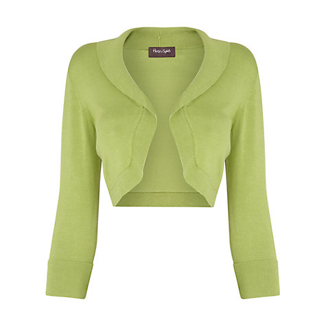 Buy Phase Eight Shawl Collar Bolero, Leaf Green Online at johnlewis.com