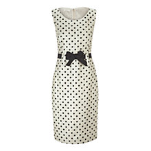 Buy Precis Petite Spot Crinkle Dress, Cream Online at johnlewis.com