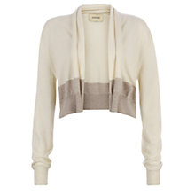 Buy Havren Melange Drape Cardigan, Cream/Stone Online at johnlewis.com