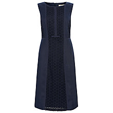 Buy Havren Broderie Anglaise Dress, Navy Online at johnlewis.com