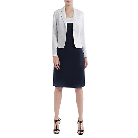 Buy Havren Long Sleeve Blazer, White Online at johnlewis.com