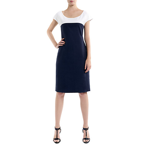 Buy Havren Colour Shift Dress, Navy/White Online at johnlewis.com