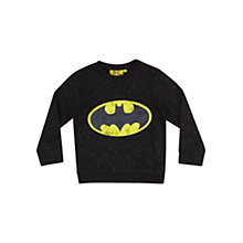 Buy Batman Logo Long Sleeved Top, Black Online at johnlewis.com