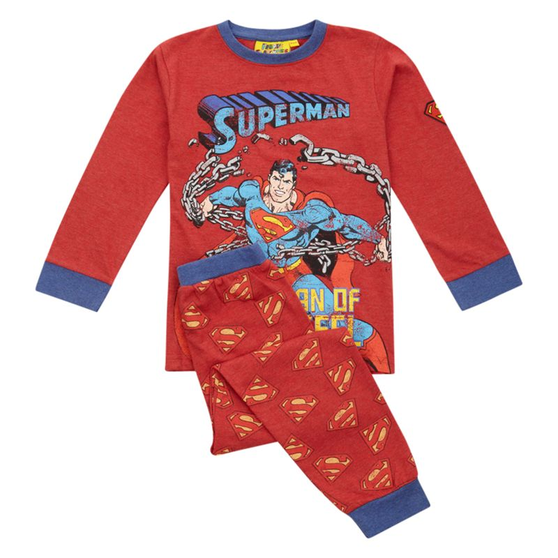 Superman Man of Steel Pyjamas, Red