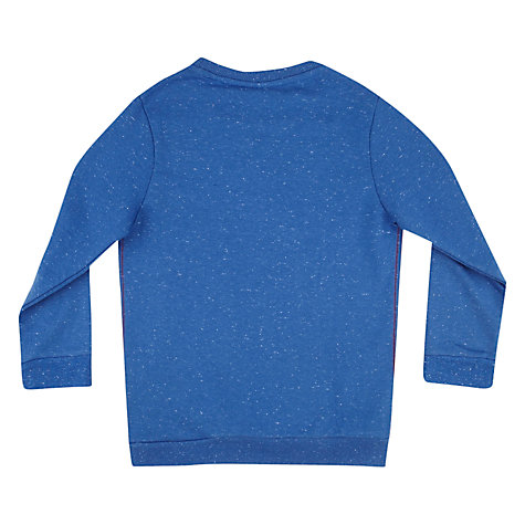 Buy Superman Logo Long Sleeved Top, Blue Online at johnlewis.com
