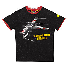 Buy Star Wars X-Wing Pilot Trainee T-Shirt, Black Online at johnlewis.com