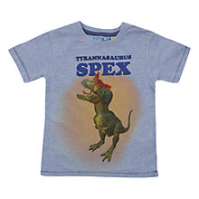 Buy Tyrannosaurus Spex T-Shirt, Grey Online at johnlewis.com
