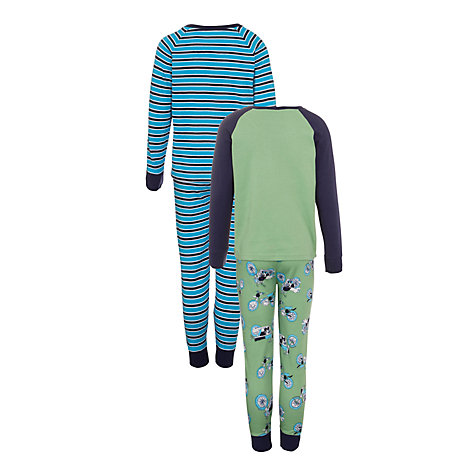 Buy John Lewis Boy Motorbike Pyjamas, Pack of 2 Online at johnlewis.com