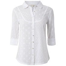 Buy White Stuff Marshmallow Long Sleeved Shirt, White Online at johnlewis.com