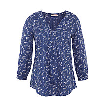 Buy John Lewis Bird Print Smock Top Online at johnlewis.com