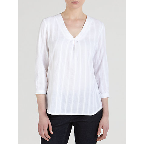 Buy John Lewis Smock Top, White Online at johnlewis.com