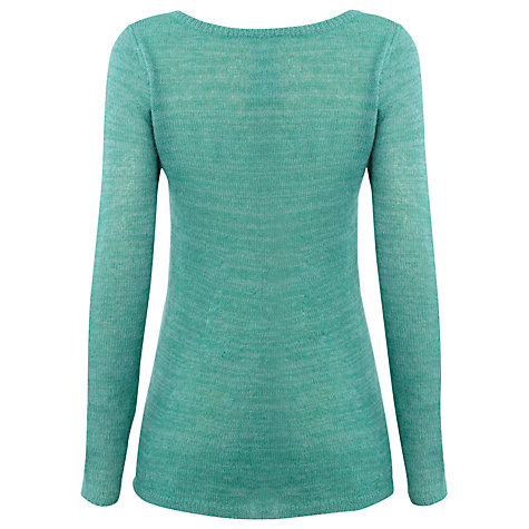Buy White Stuff Slide Time Knitted Top, Green Online at johnlewis.com