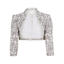 Buy Planet Lace Jacquard Bolero, Grey Online at johnlewis.com