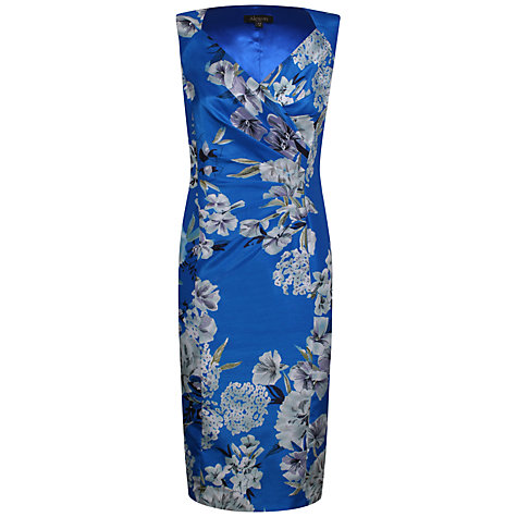 Buy Alexon Shantung Dress, Blue Multi Online at johnlewis.com