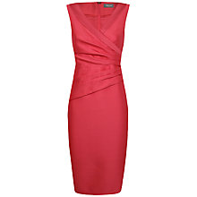 Buy Alexon Wrap Front Dress, Papaya Online at johnlewis.com