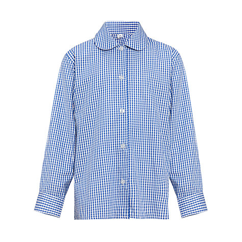Buy Girls' Long Sleeve Blouse, Pack of 2, Royal Blue/White Online at johnlewis.com