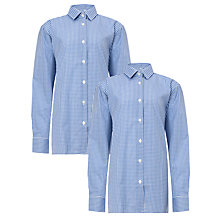 Buy Ibstock Place School Boys' Long Sleeve Shirt, Pack of 2, Royal Blue/White Online at johnlewis.com