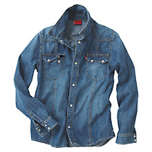 Buy Levi's Boys' Austen Denim Shirt, Denim Online at johnlewis.com