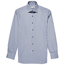 Buy Reiss Dazzle Stripe Contrast Button Shirt, Navy Online at johnlewis.com