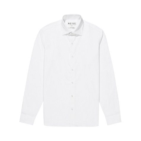 Buy Reiss Zinc Poplin Long Sleeve Shirt Online at johnlewis.com