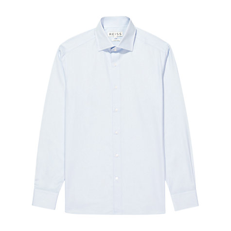 Buy Reiss Zinc Poplin Long Sleeve Shirt, Blue Online at johnlewis.com