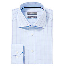 Buy John Lewis XS Sleeves Windowpane Check Shirt, Purple Online at johnlewis.com