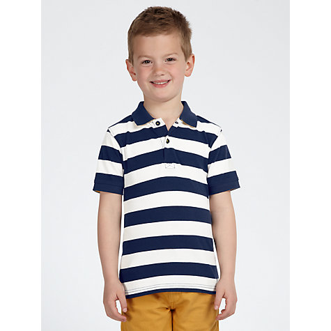 Buy John Lewis Boy Block Striped Polo Shirt Online at johnlewis.com