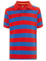Buy John Lewis Boy Block Striped Polo Shirt, Red/Blue, 2 years Online at johnlewis.com