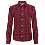 Buy John Lewis Boy Gingham Shirt, Red/Navy Online at johnlewis.com