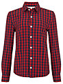 John Lewis Boy Gingham Shirt, Red/Navy
