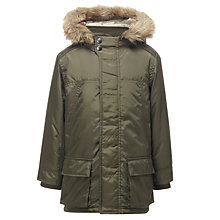 Buy John Lewis Boy Collins Parka Coat, Khaki Online at johnlewis.com