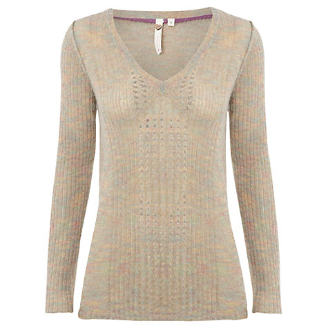 Buy White Stuff Stitch Up Jumper, Whip Cream Online at johnlewis.com