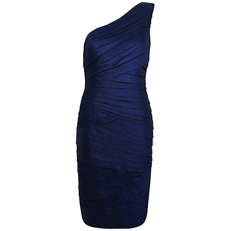 Buy Alexon One Shoulder Shimmer Dress, Blue Online at johnlewis.com