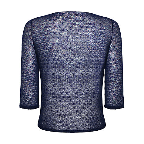 Buy Alexon Open Weave Waterfall Cardigan, Sapphire Online at johnlewis.com