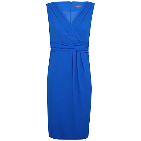Buy Alexon Chiffon Dress, Blue Online at johnlewis.com