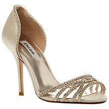 Buy Dune Haute Diamanté Embellished Satin Stiletto Sandals Online at johnlewis.com