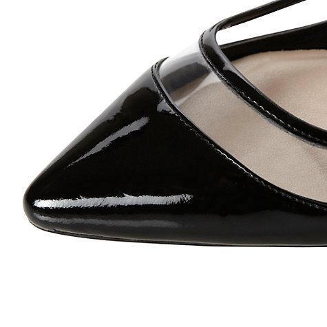 Buy Dune Ministry Patent Transparent Detail Pointed Pumps Online at johnlewis.com