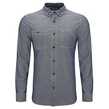 Buy JOHN LEWIS & Co. Long Sleeve Dirty Trapper Shirt, Indigo Online at johnlewis.com