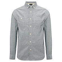 Buy JOHN LEWIS & Co. Long Sleeve Labourer Stripe Shirt, Grey Online at johnlewis.com