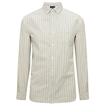 Buy JOHN LEWIS & Co. Vintage Long Sleeve Multi-Stripe Shirt, Natural Online at johnlewis.com