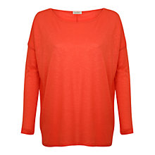 Buy Kaliko Oversized Jersey Top, Coral Online at johnlewis.com