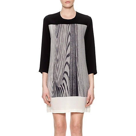 Buy Whistles Woodgrain Print Dress, Black Online at johnlewis.com