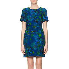 Buy Whistles Glazed Cotton Print Dress, Blue/Multi Online at johnlewis.com