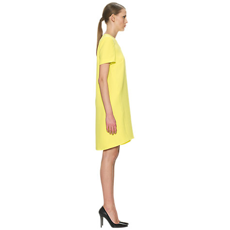 Buy Whistles Sculptured Crepe Dress, Yellow Online at johnlewis.com