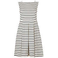 Buy Boutique by Jaeger Broderie Stripe Dress, Black/Multi Online at johnlewis.com