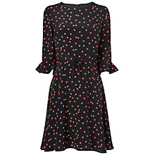 Buy Boutique by Jaeger Ladybird Skater Dress, Black Online at johnlewis.com